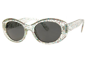 Back Seat Sunglasses in Crystal Glitter
