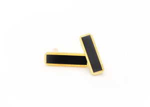 Black Bar Stud Earrings