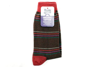 Bertha Crew Socks In Cocoa