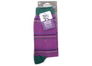 Bertha Crew Socks In Orchid