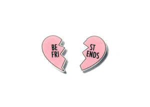 Best Friends Heart Earrings