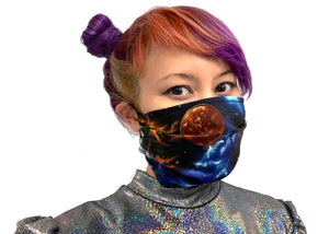 Black Galaxy Reversible Face Mask