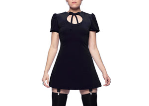 Anahata Mini Dress in Black Velvet