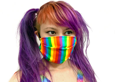 Bold Rainbow Reversible Face Mask