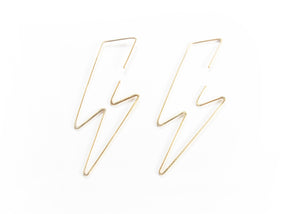 Bolt Hoop Earrings