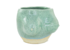 Small Boobie Planter in Jade