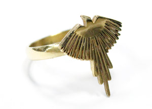 Falcon Ring In Brass