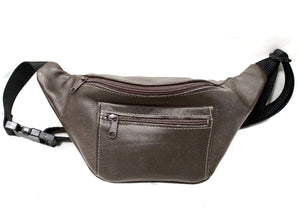 Leather Fanny Pack in Brown