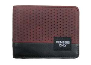 Burgundy Perforated Wallet