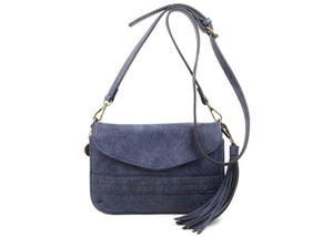 The Audry Crossbody in Blue