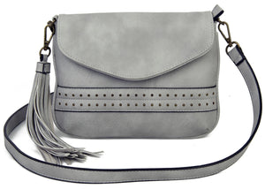 The Audry Crossbody in Light Grey
