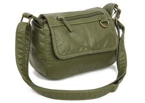 The Willma Crossbody Bag in Army Green