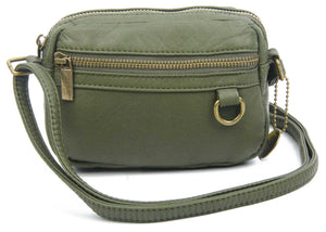 The Caroline Mini Crossbody Bag in Army Green