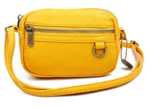 The Caroline Mini Crossbody Bag in Honey Mustard