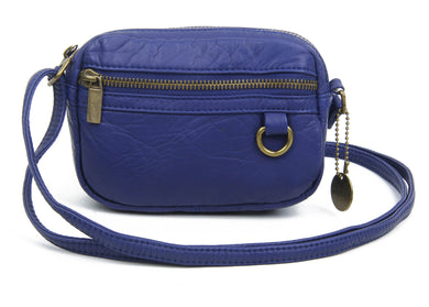 The Caroline Mini Crossbody Bag in Navy Blue