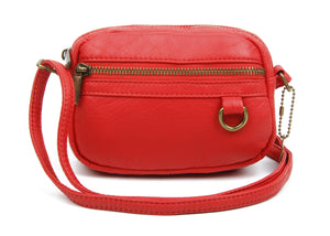 The Caroline Mini Crossbody Bag in Poppy Red