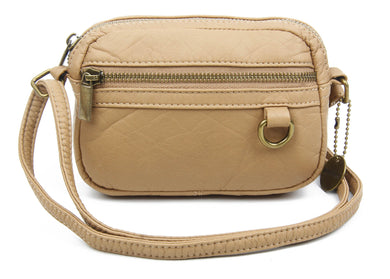 The Caroline Mini Crossbody Bag in Sand