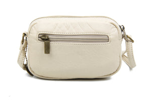 The Caroline Mini Crossbody Bag in Taupe