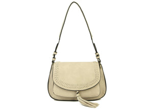 The Alice Saddle Bag in Beige