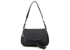 The Alice Saddle Bag in Black