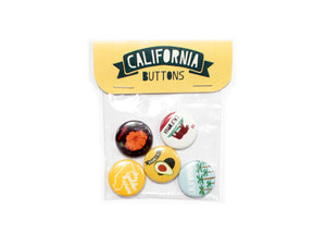 California Buttons Pack of 5