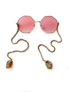 Can't Stop Won't Stop Sunglasses in Pink Lens with Citrine