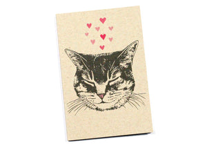 Cat Dreams of Love Mini Notebook