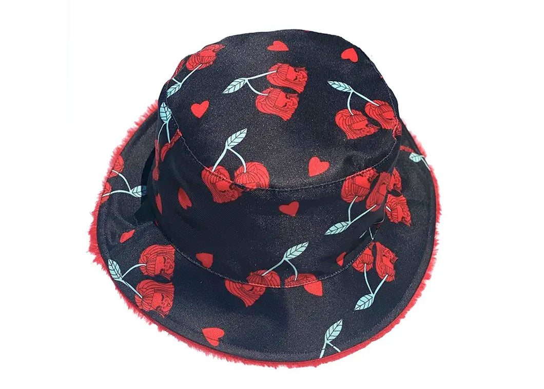 Cherry Lucy Reversible Bucket Hat