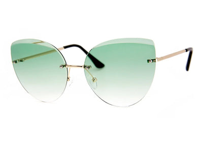 Cleopatra Sunglasses in Gold & Olive Green