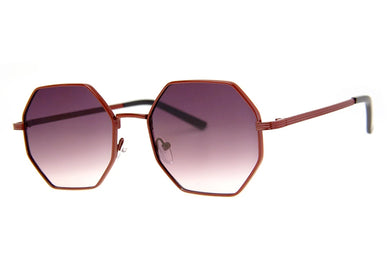 Cornered Sunglasses in Dark Red