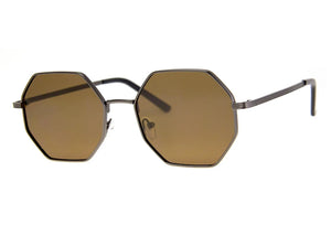 Cornered Sunglasses in Gunmetal