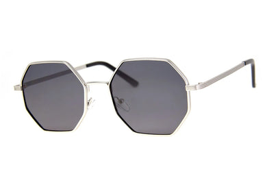 Cornered Sunglasses in Matte Silver