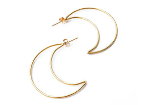 Correne Eclipse Hoops in 14kt Gold