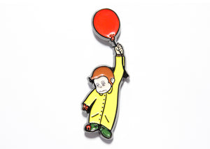 Curious Georgie 2.0 Enamel Pin