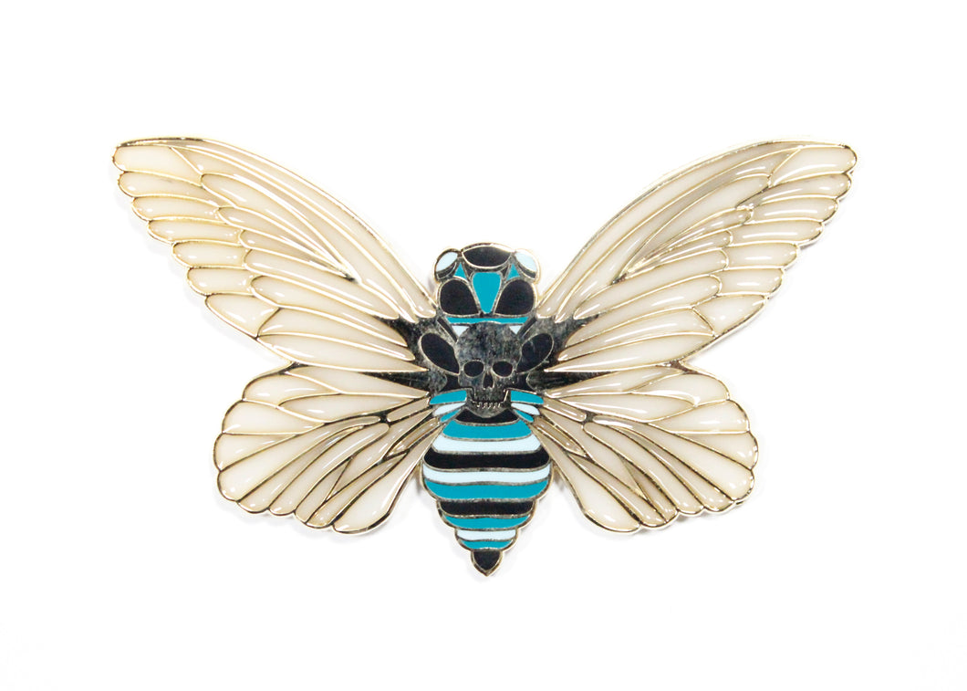 Death's Head Hawkmoth Enamel Pin