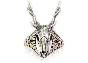 Stag Deer Skull Ring
