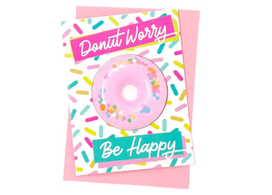 Donut Worry Bath Bomb Greeting Card