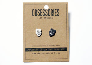 Drama Masks Earrings
