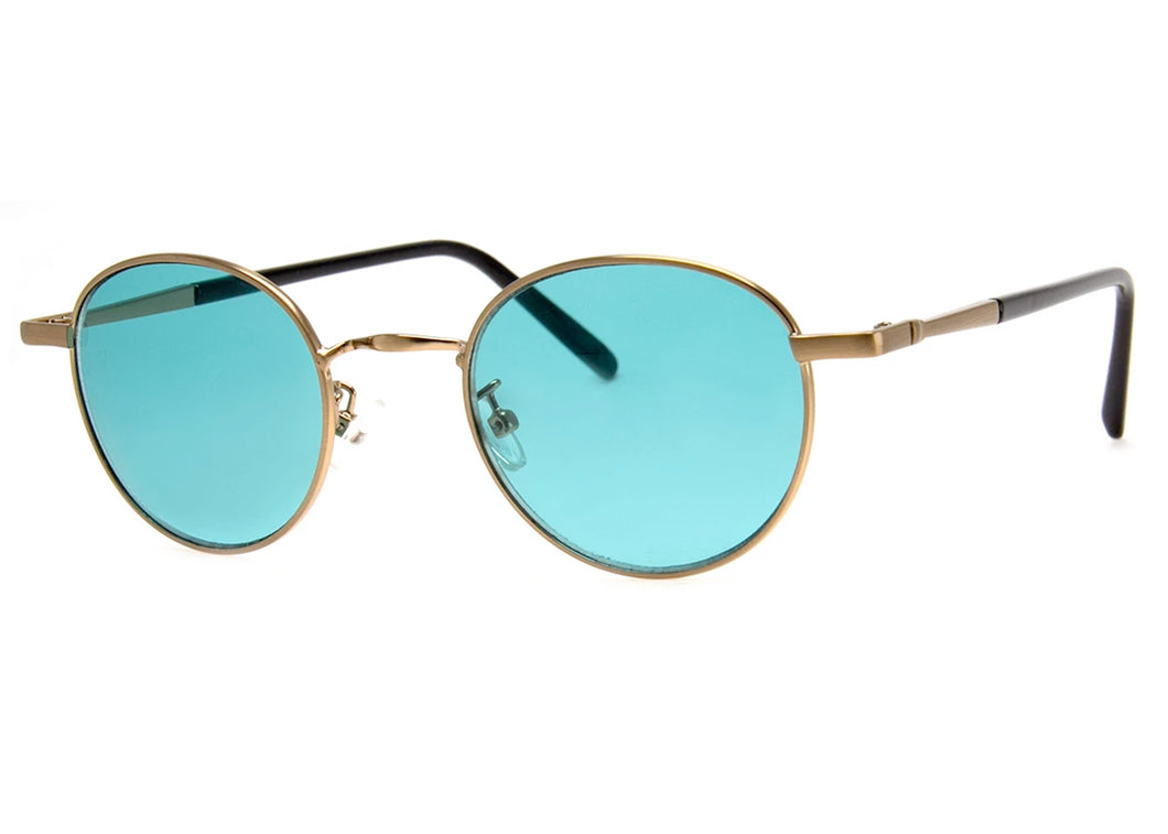Duke's Sunglasses in Gold & Teal