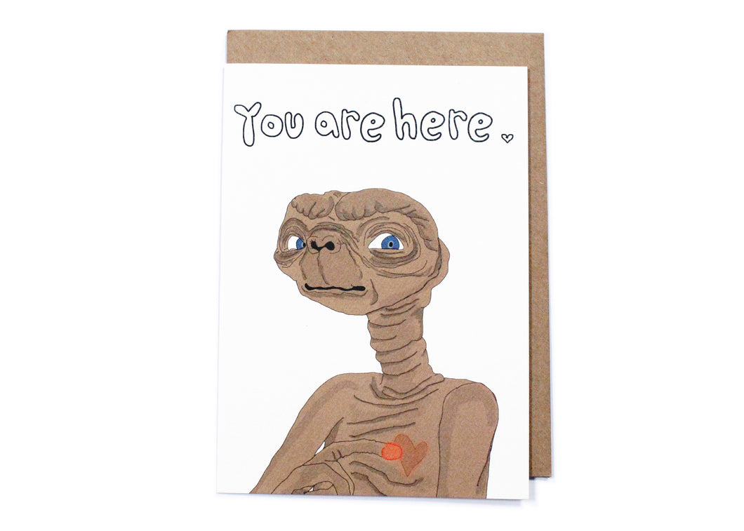 ET You Are Here Card