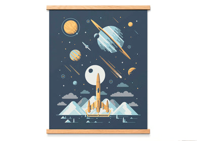 Europa Space Shuttle Art Print