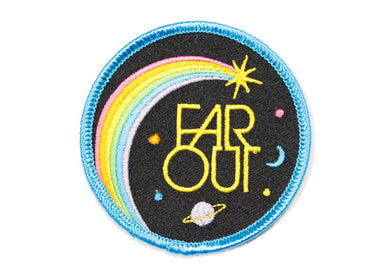 Far Out Iron-On Patch
