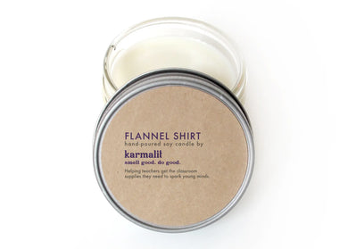 Flannel Shirt 4oz Soy Candle