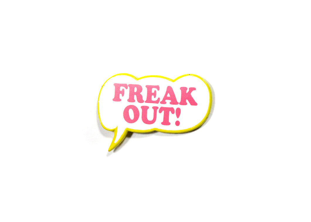 Frank Zappa Freak Out Bubble Enamel Pin