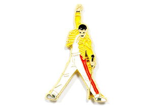 Freddie Mercury Yellow Suit Enamel Pin