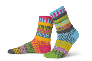 Adult Crew Socks in Freesia