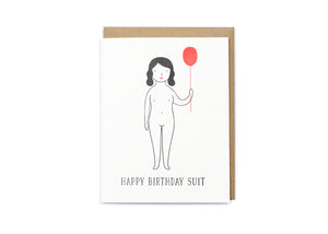 Birthday Suit Gal Card