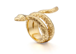 Snake Ring in Gold Plated Steel