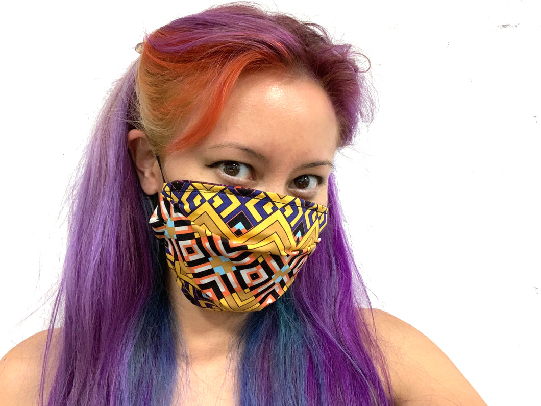 Geo Gold Reversible Face Mask