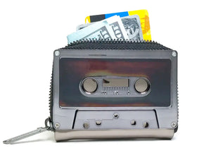 Retro Cassette Tape Wallet in Gunmetal